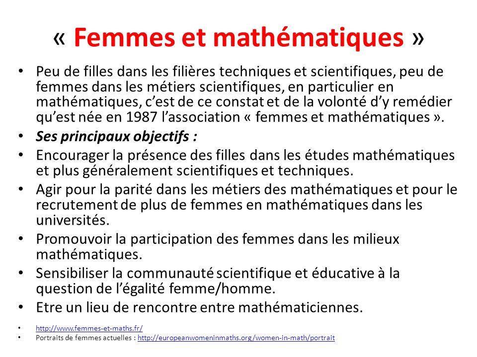 « Femmes et mathématiques »