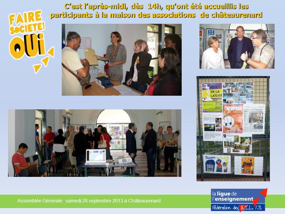 C'est l'après-midi, dès 14h, qu'ont été accueillis les participants à la maison des associations de châteaurenard