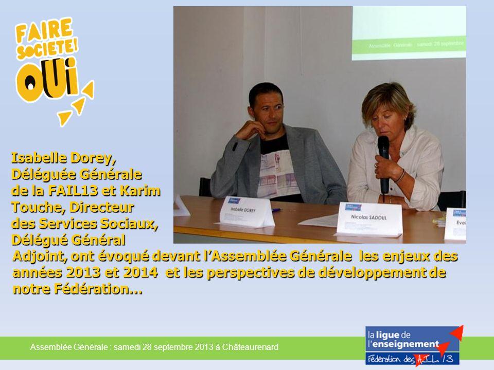 Isabelle Dorey, Déléguée Générale de la FAIL13 et Karim Touche, Directeur des Services Sociaux, Délégué Général