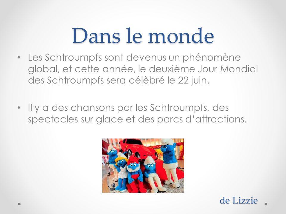 Dans le monde Les Schtroumpfs sont devenus un phénomène global, et cette année, le deuxième Jour Mondial des Schtroumpfs sera célèbré le 22 juin.