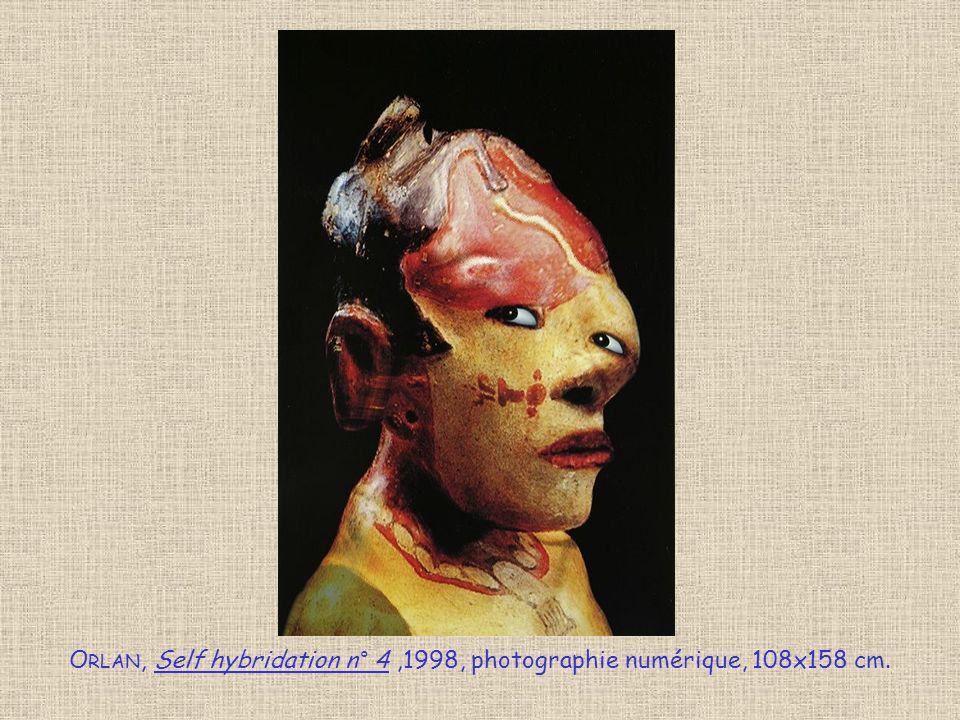 Orlan, Self hybridation n° 4 ,1998, photographie numérique, 108x158 cm.