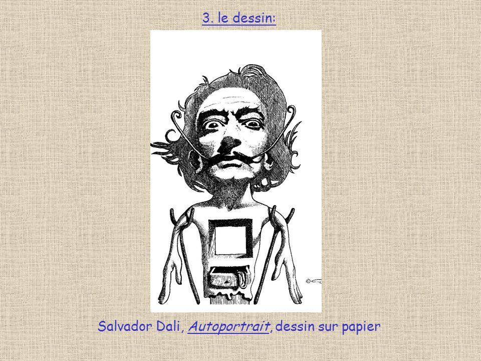Salvador Dali, Autoportrait, dessin sur papier