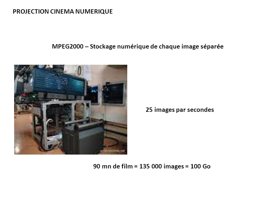 PROJECTION CINEMA NUMERIQUE
