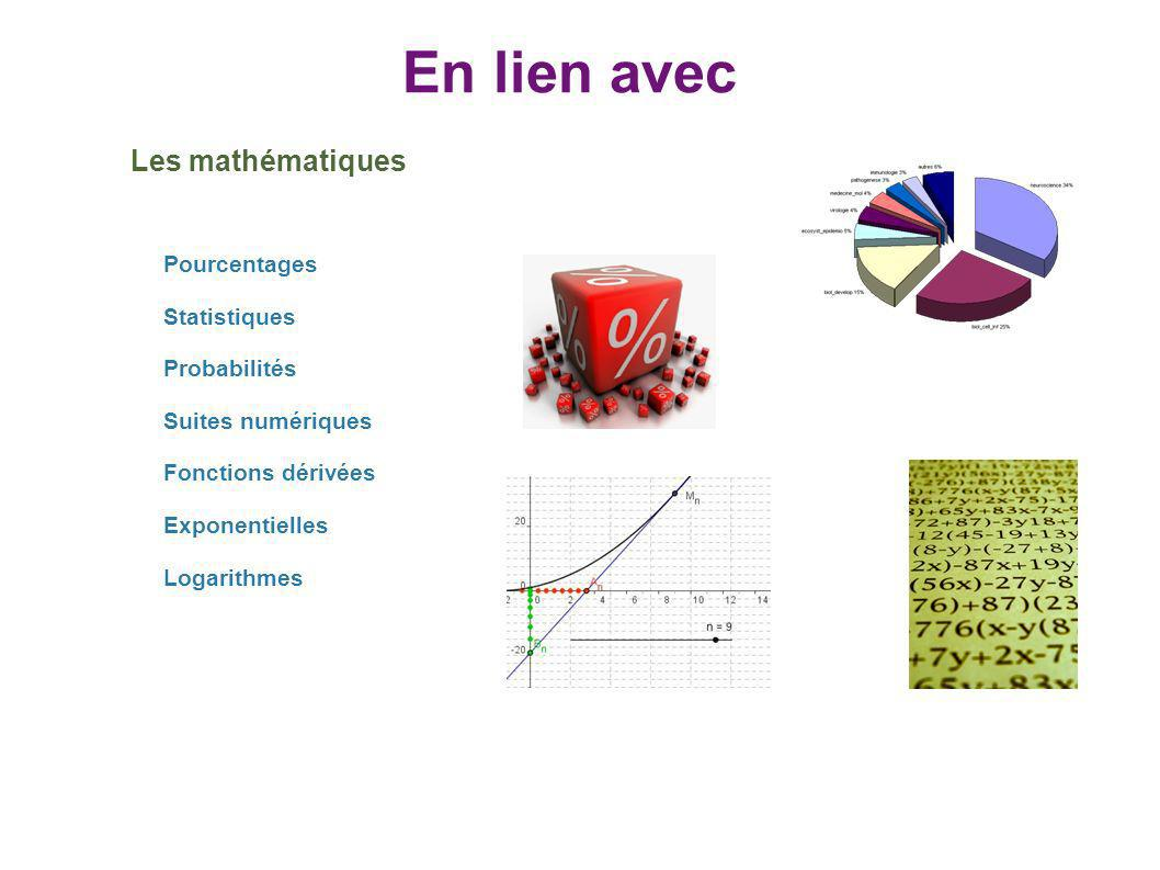 En lien avec Les mathématiques Pourcentages Statistiques Probabilités
