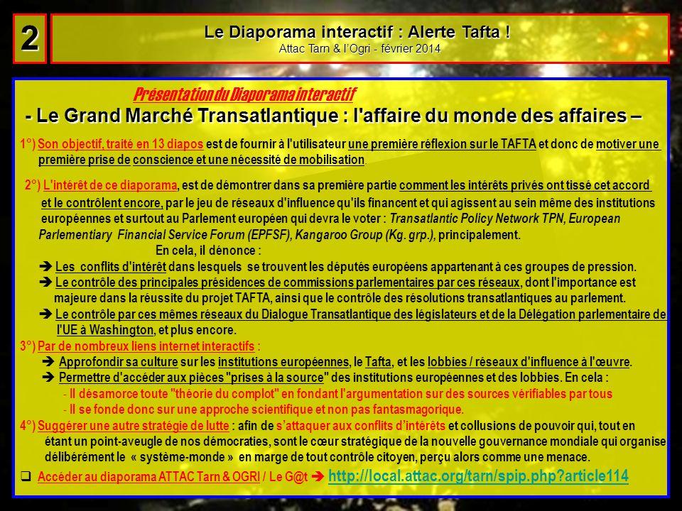 Le Diaporama interactif : Alerte Tafta !