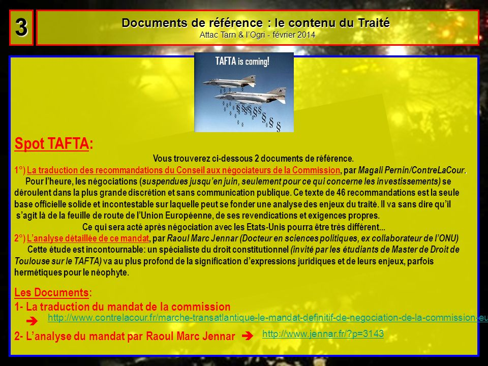 Documents de référence : le contenu du Traité