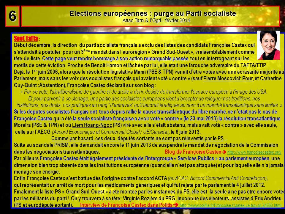 6 Elections européennes : purge au Parti socialiste Spot Tafta :