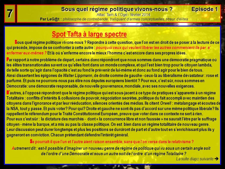 7 Spot Tafta à large spectre
