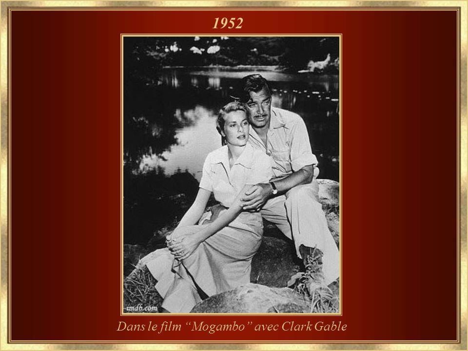 Dans le film Mogambo avec Clark Gable