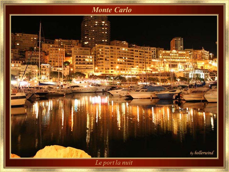 Monte Carlo Le port la nuit