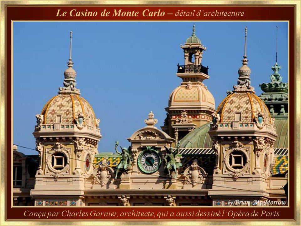 Le Casino de Monte Carlo – détail d'architecture