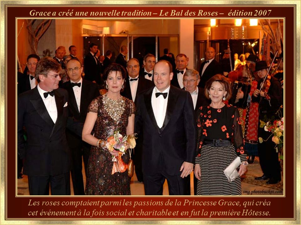Grace a créé une nouvelle tradition – Le Bal des Roses – édition 2007