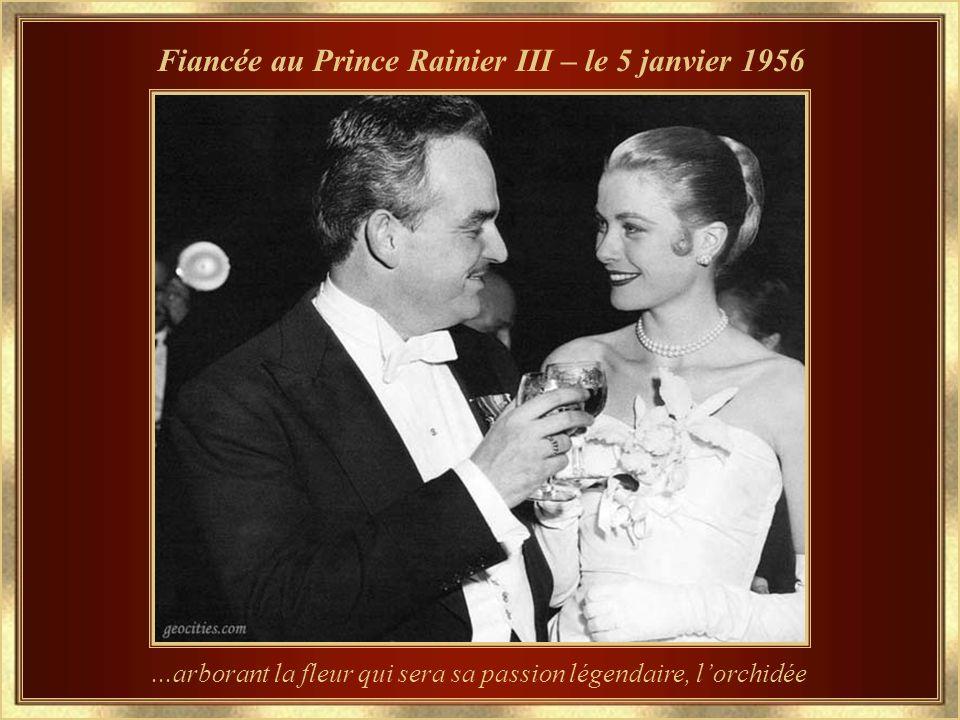 Fiancée au Prince Rainier III – le 5 janvier 1956