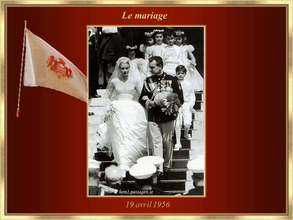 Le mariage 19 avril 1956