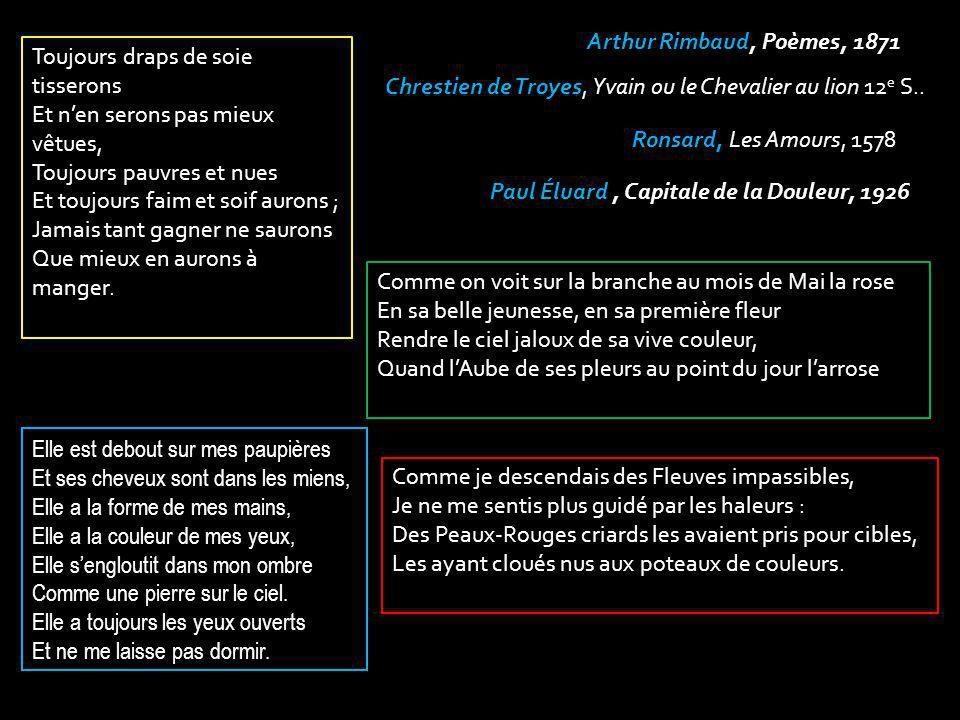Chrestien de Troyes, Yvain ou le Chevalier au lion 12e S..