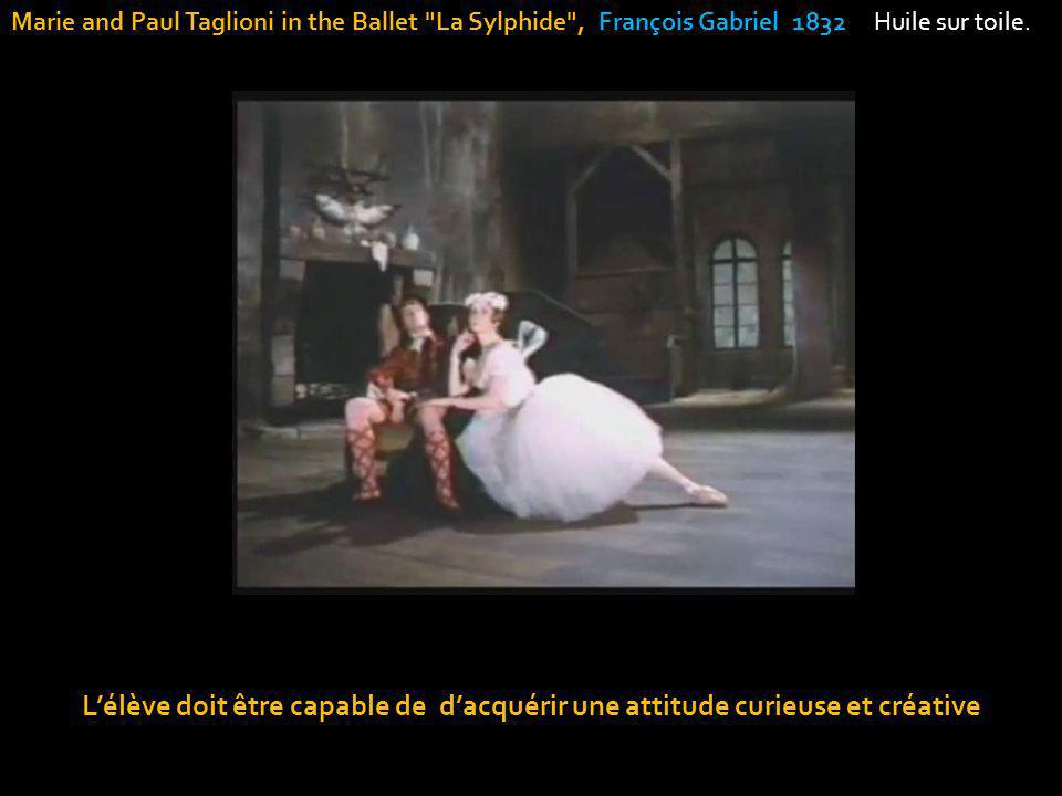 Marie and Paul Taglioni in the Ballet La Sylphide , François Gabriel 1832 Huile sur toile.
