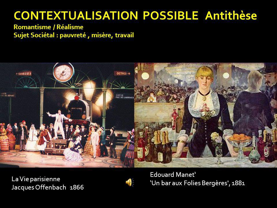CONTEXTUALISATION POSSIBLE Antithèse