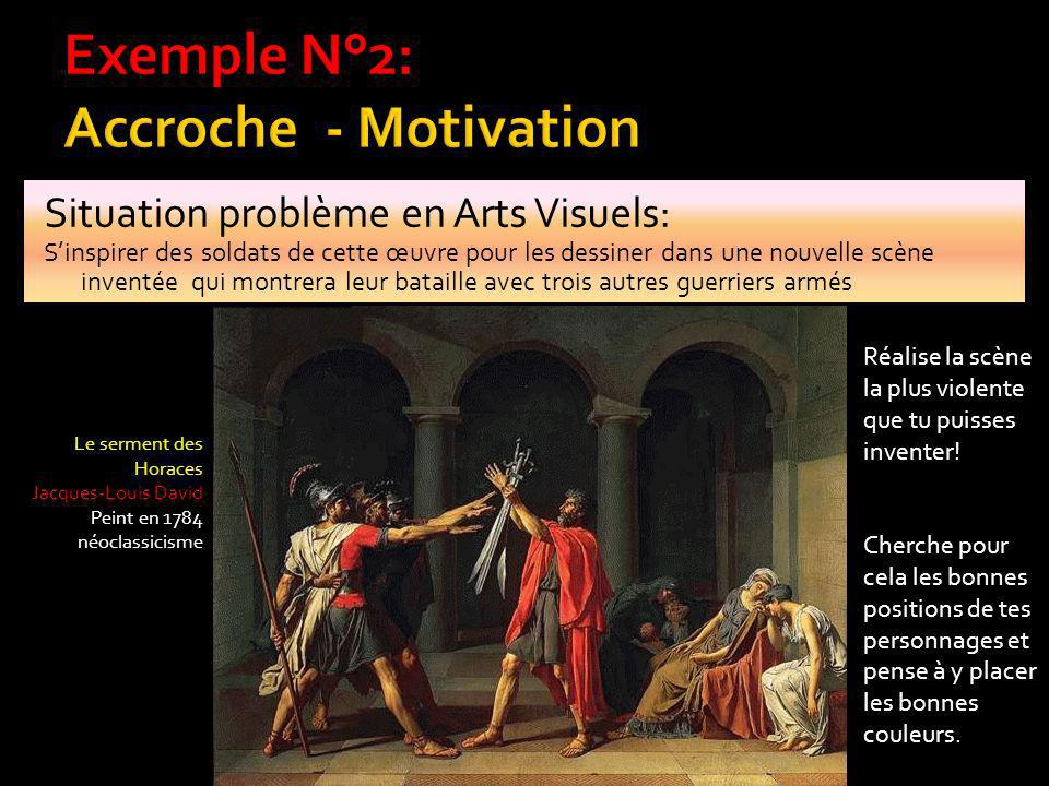 Exemple N°2: Accroche - Motivation