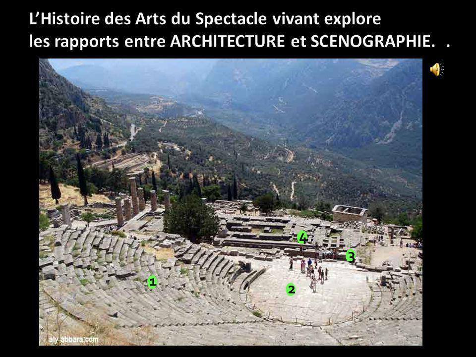 L'Histoire des Arts du Spectacle vivant explore les rapports entre ARCHITECTURE et SCENOGRAPHIE. .
