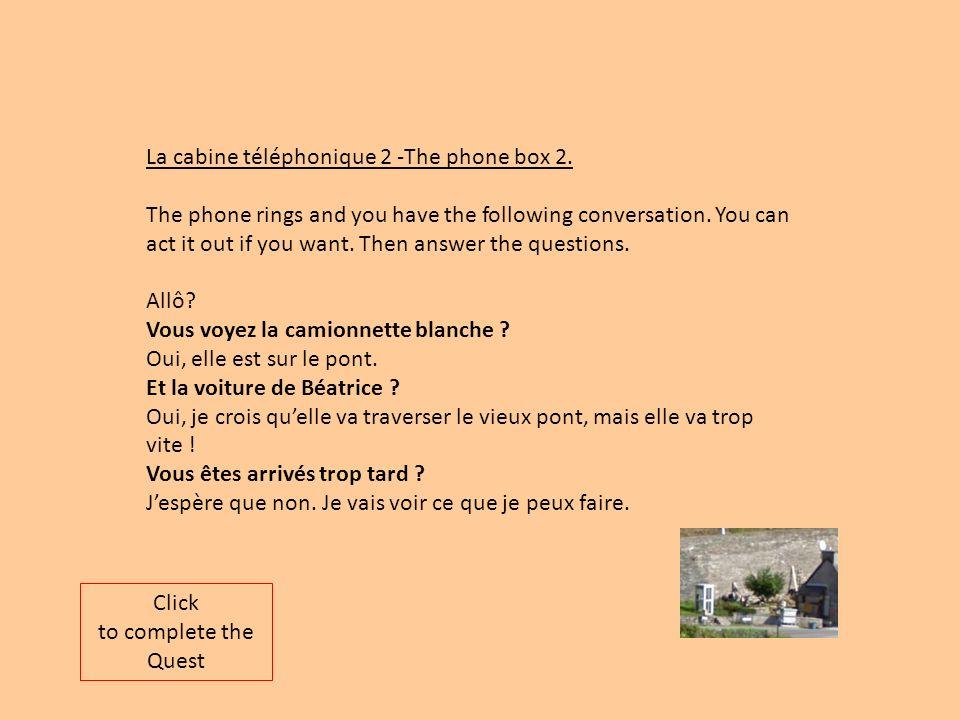 La cabine téléphonique 2 -The phone box 2.