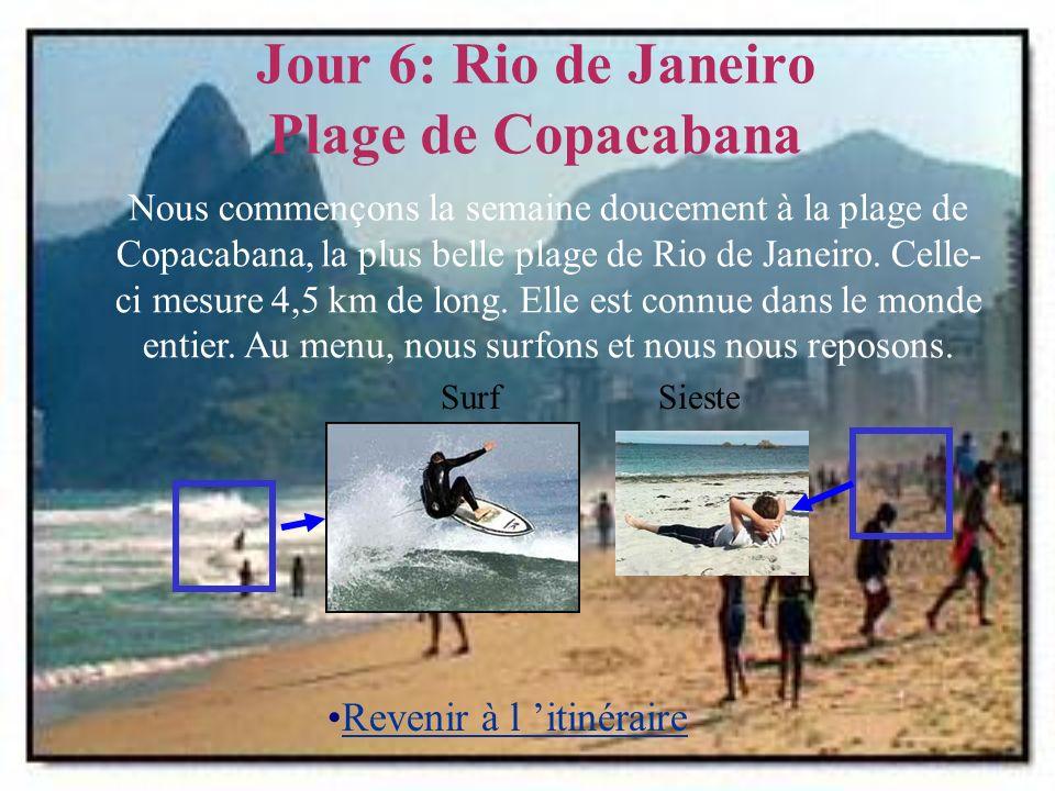 Jour 6: Rio de Janeiro Plage de Copacabana