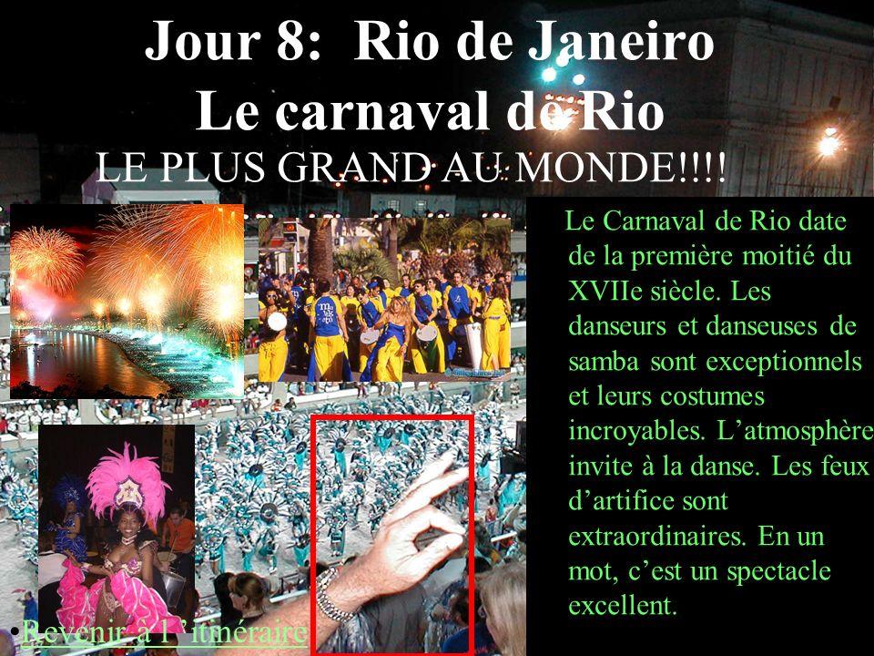 Jour 8: Rio de Janeiro Le carnaval de Rio