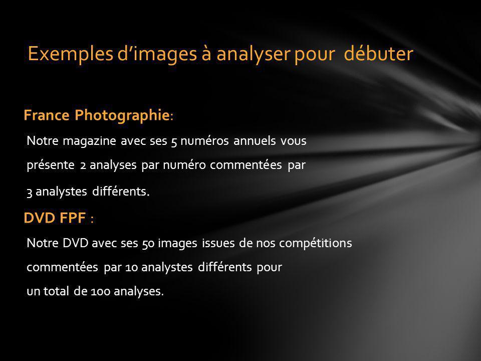 Exemples d'images à analyser pour débuter