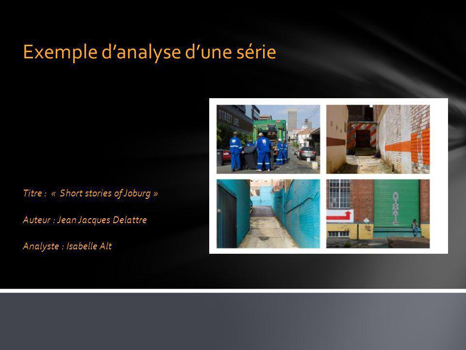 Exemple d'analyse d'une série
