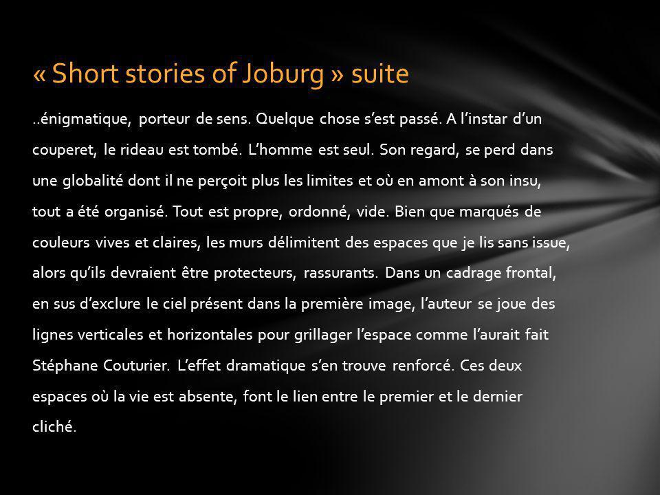 « Short stories of Joburg » suite