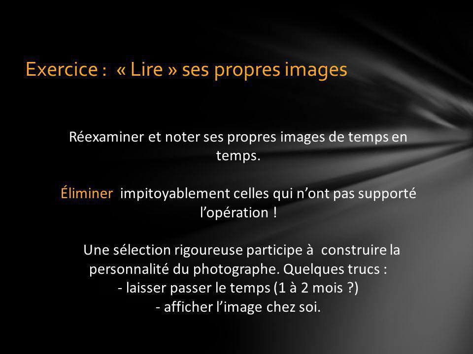 Exercice : « Lire » ses propres images