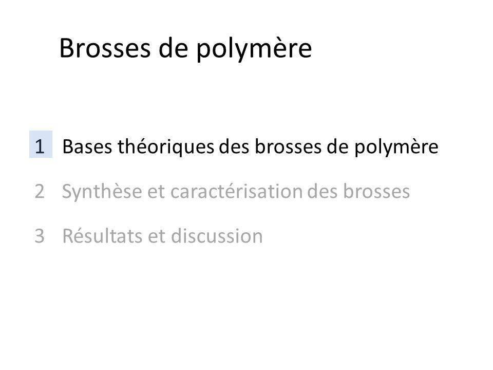 Brosses de polymère Bases théoriques des brosses de polymère