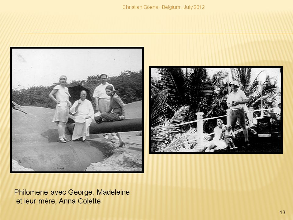 Philomene avec George, Madeleine et leur mère, Anna Colette