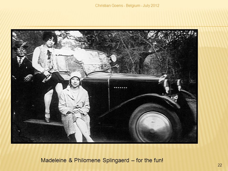 Madeleine & Philomene Splingaerd – for the fun!
