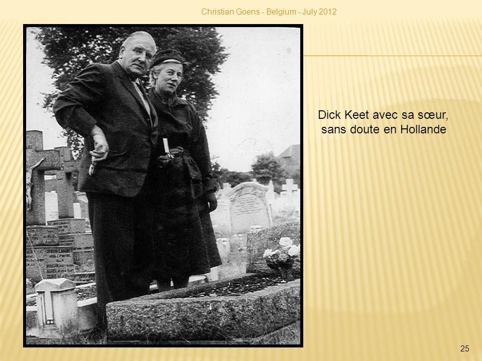 Dick Keet avec sa sœur, sans doute en Hollande