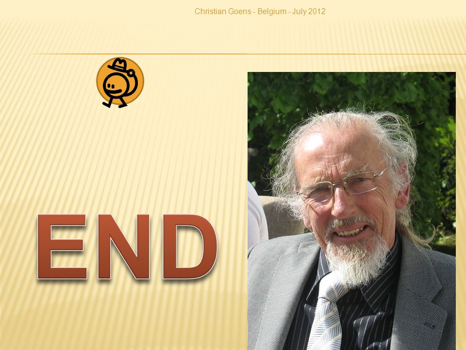 Christian Goens - Belgium - July 2012