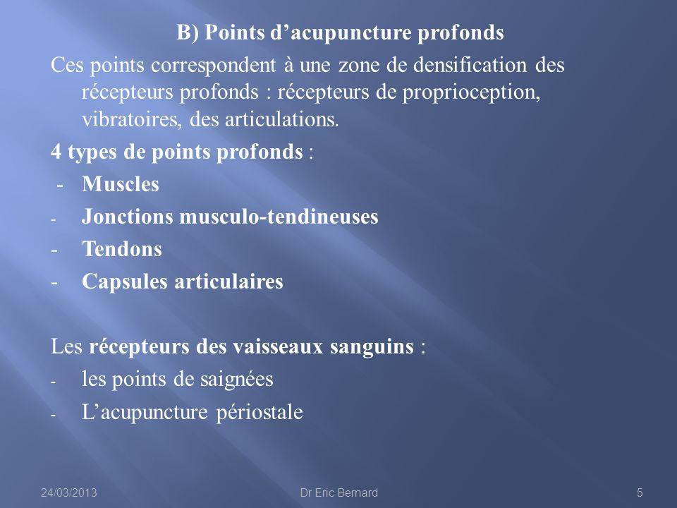 B) Points d'acupuncture profonds