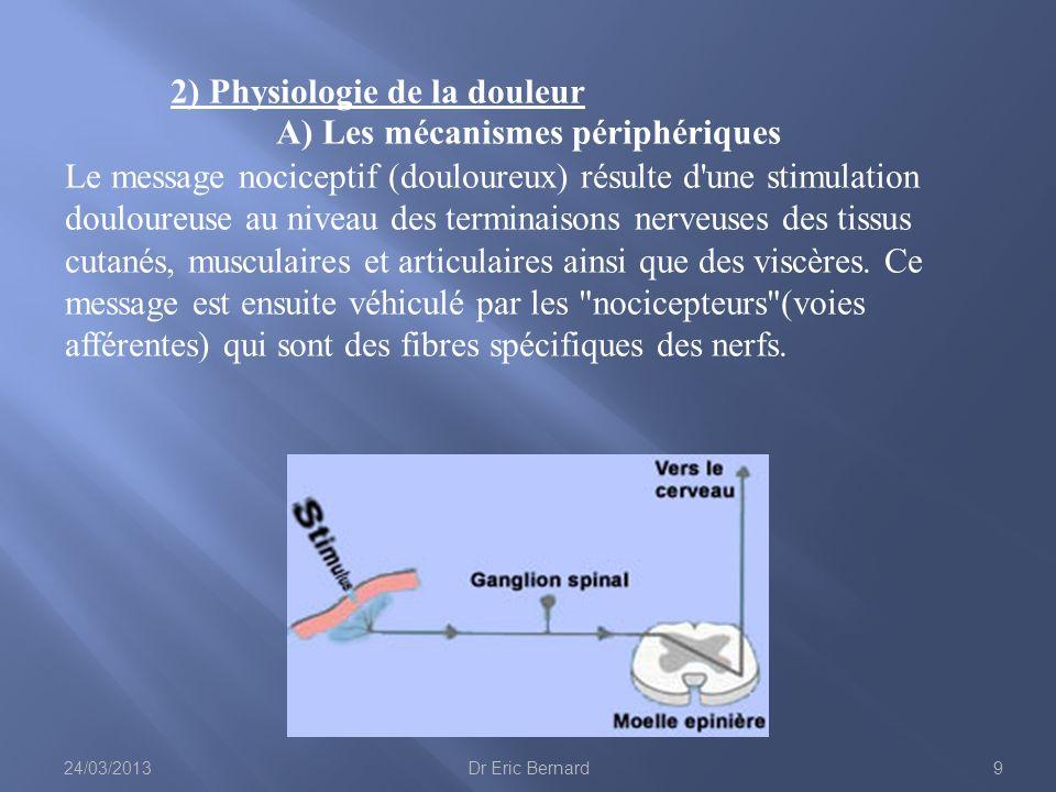 2) Physiologie de la douleur