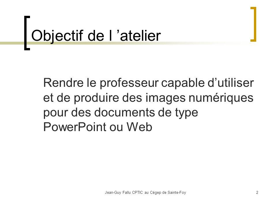 Jean-Guy Fallu CPTIC au Cégep de Sainte-Foy