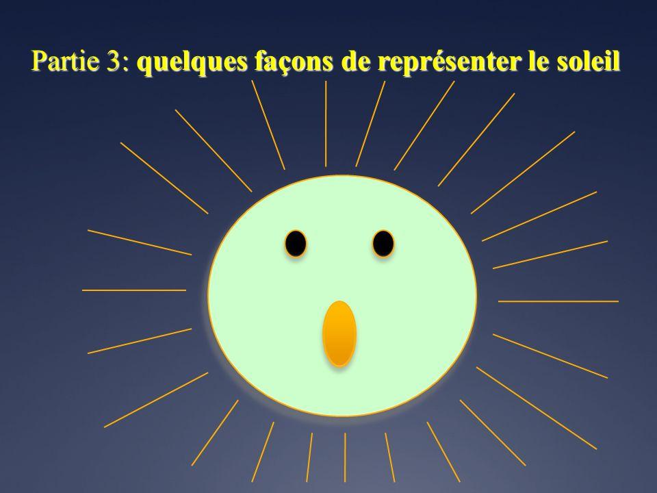 Partie 3: quelques façons de représenter le soleil