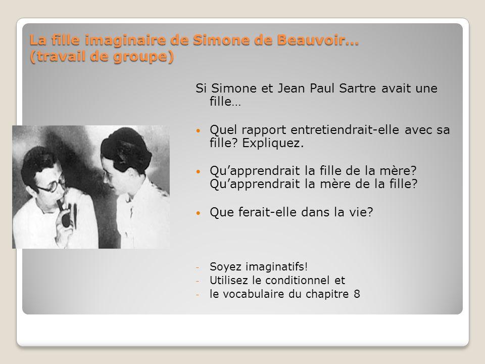 La fille imaginaire de Simone de Beauvoir… (travail de groupe)