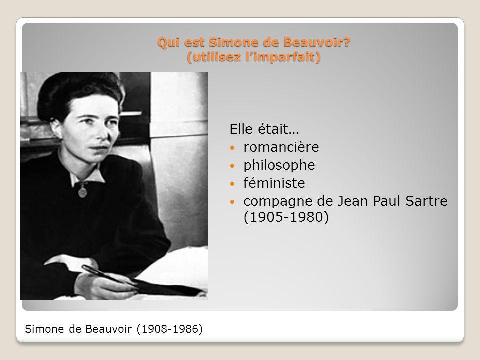 Qui est Simone de Beauvoir (utilisez l'imparfait)