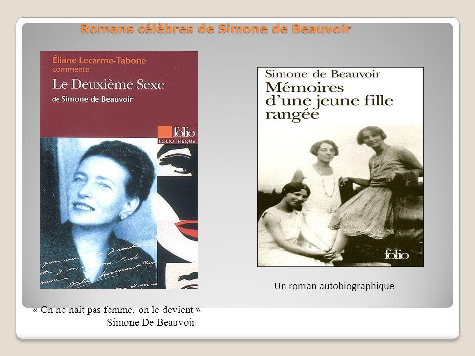 Romans célèbres de Simone de Beauvoir