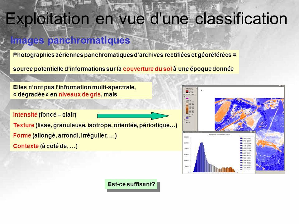 Exploitation en vue d une classification