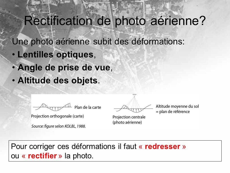 Rectification de photo aérienne
