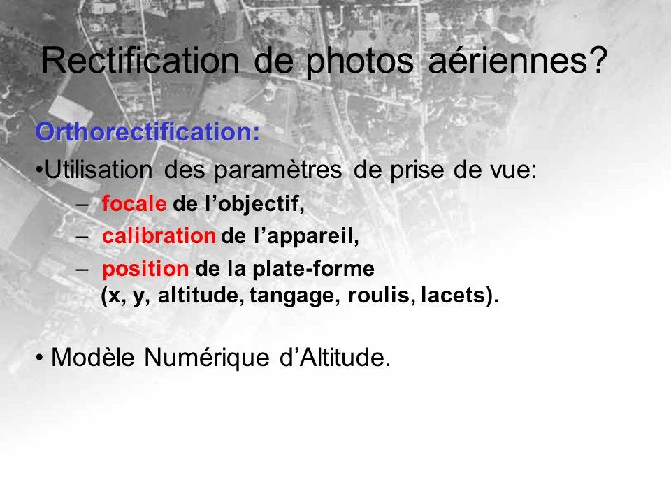 Rectification de photos aériennes