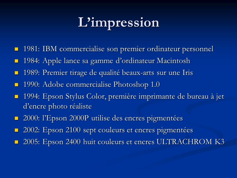 L'impression 1981: IBM commercialise son premier ordinateur personnel
