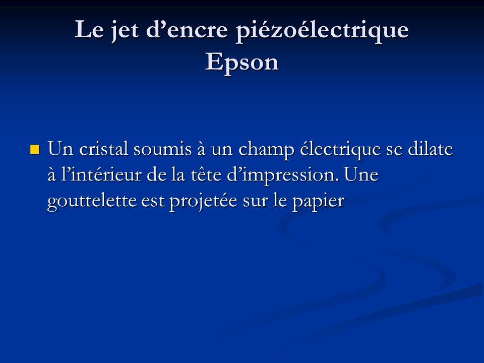 Le jet d'encre piézoélectrique Epson