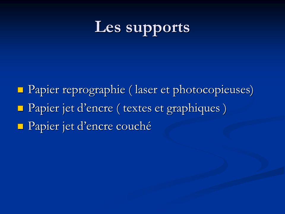 Les supports Papier reprographie ( laser et photocopieuses)