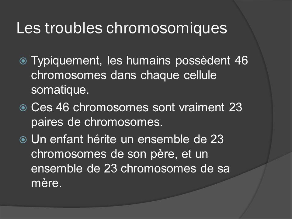 Les troubles chromosomiques
