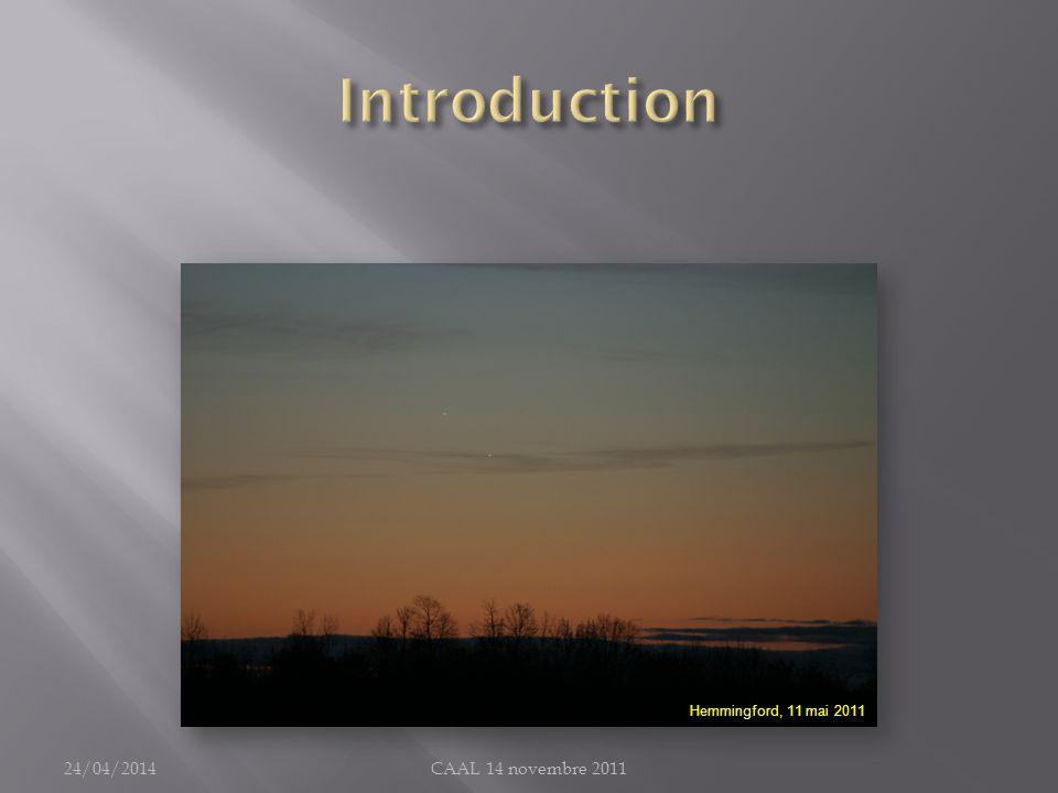 Introduction Hemmingford, 11 mai 2011 30/03/2017 CAAL 14 novembre 2011